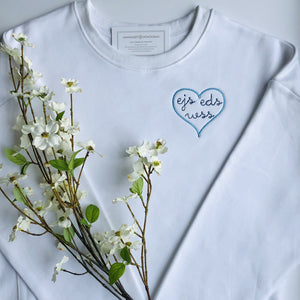 Adult Sweatshirt with Heart Embroidery