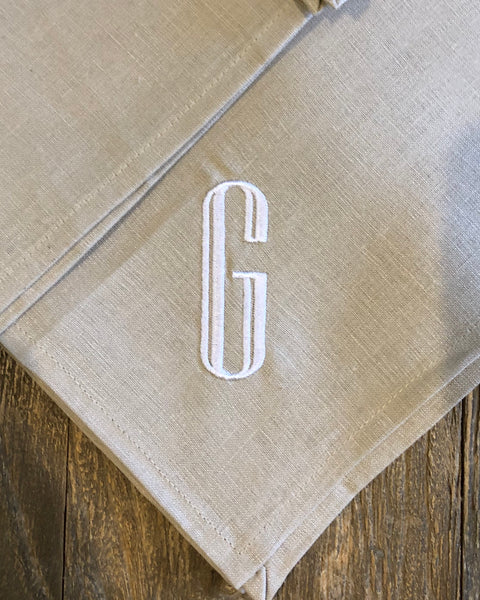 Linen Hemstitch Napkins (Set of 4)