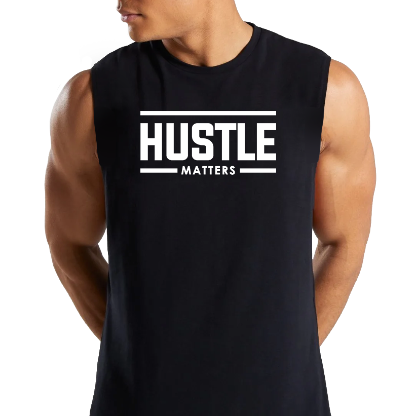 Hustle Matters® Men's Cut-Off T-Shirt