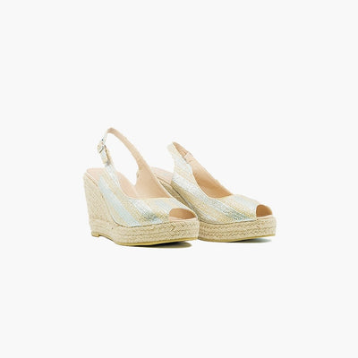 Burano Gold with Silver Espadrille - MyJooti