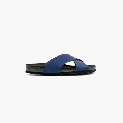 Dallas Navy Sandals - MyJooti