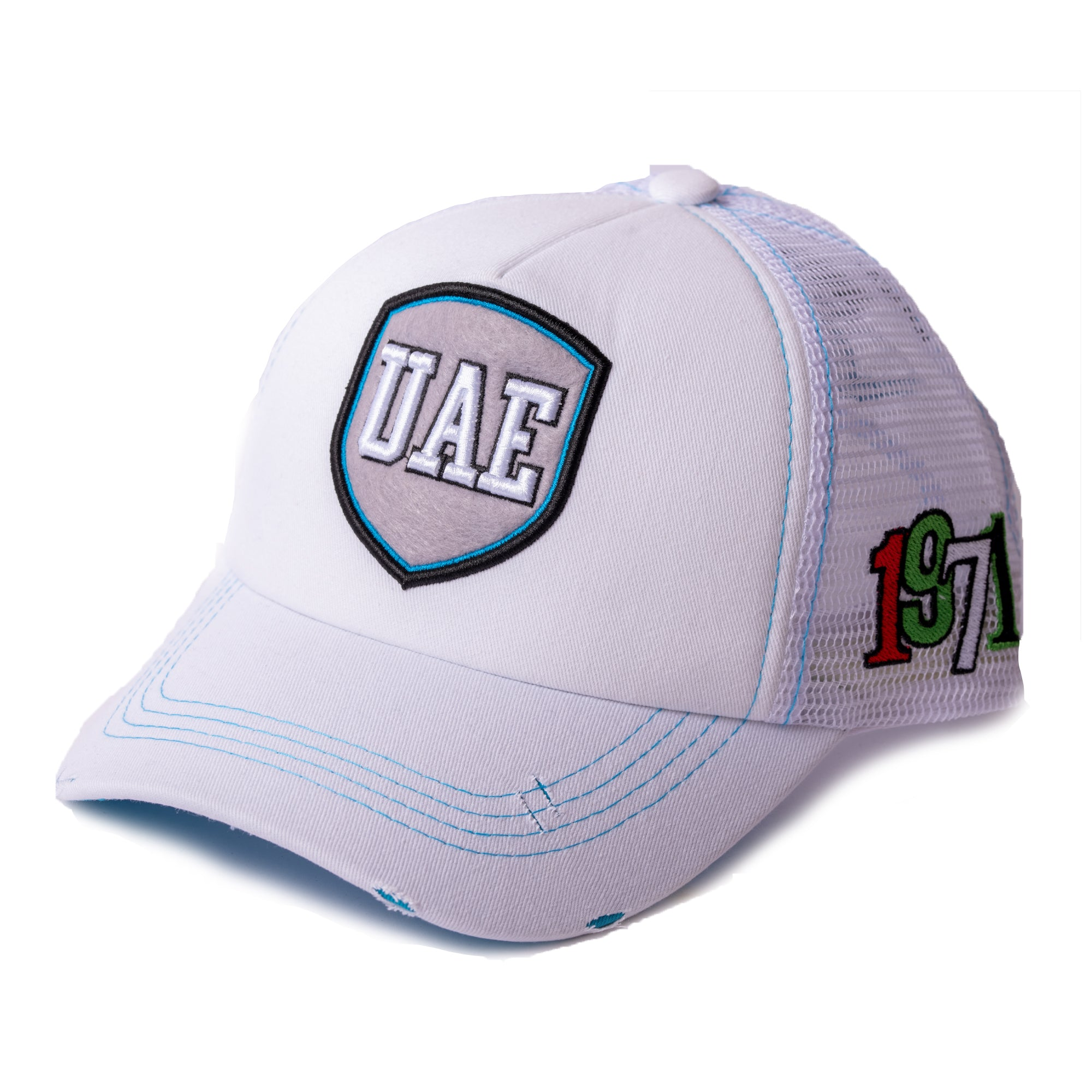 UAE Full White Cap