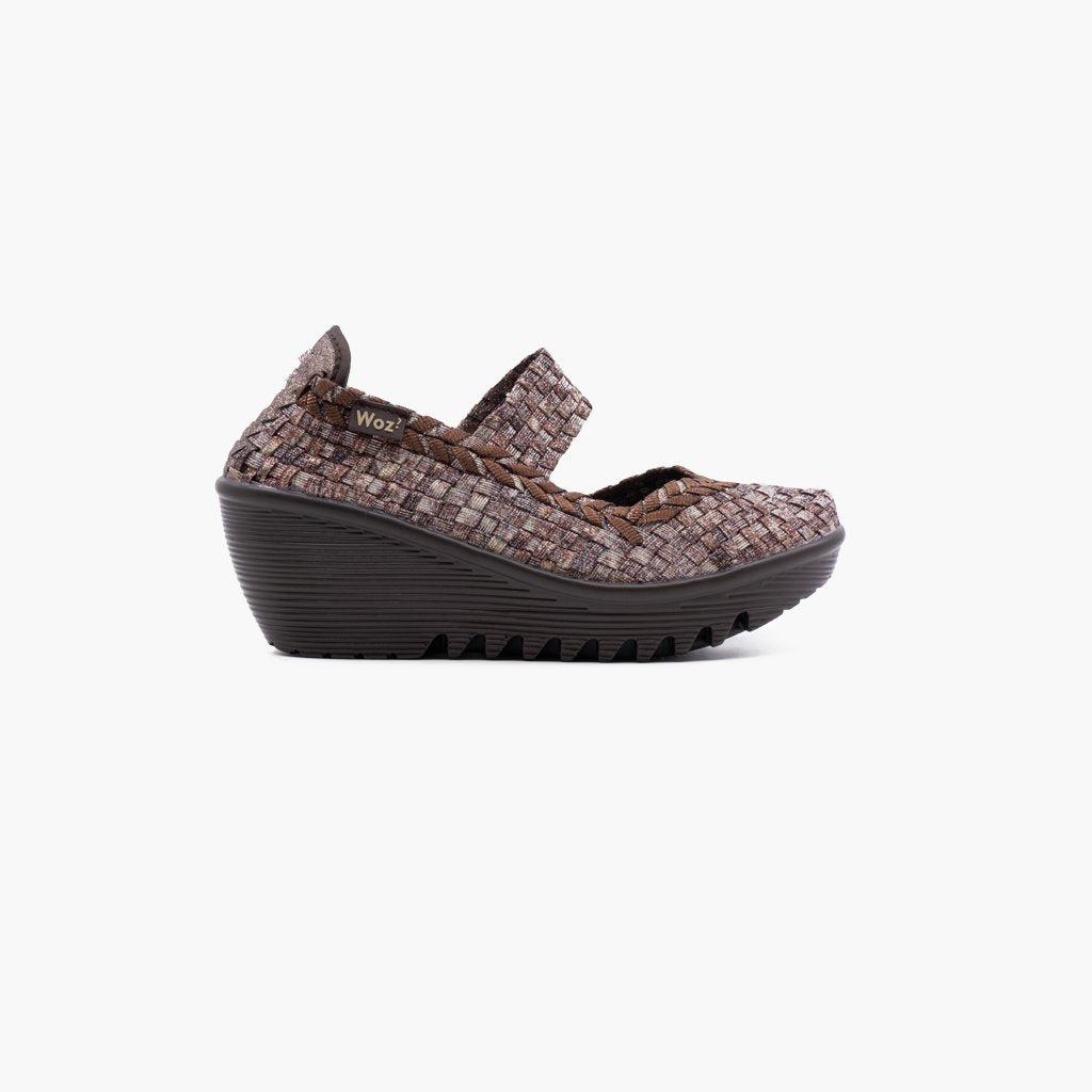 Sofia Multi Nude Wedge
