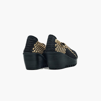 Torino Black and Rose Gold Wedge - MyJooti