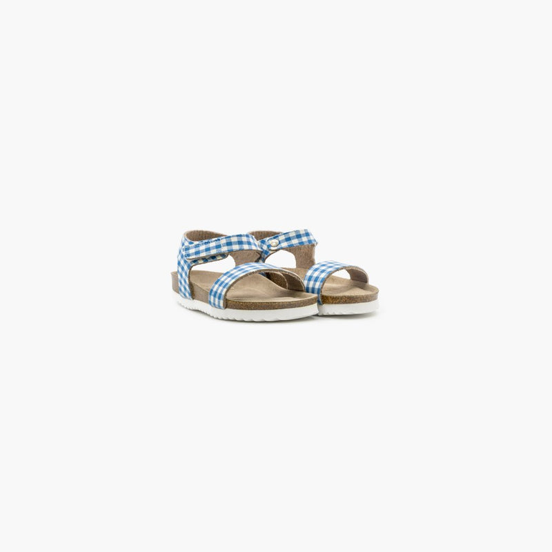 Vico Checkers Blue and White Sandals - MyJooti