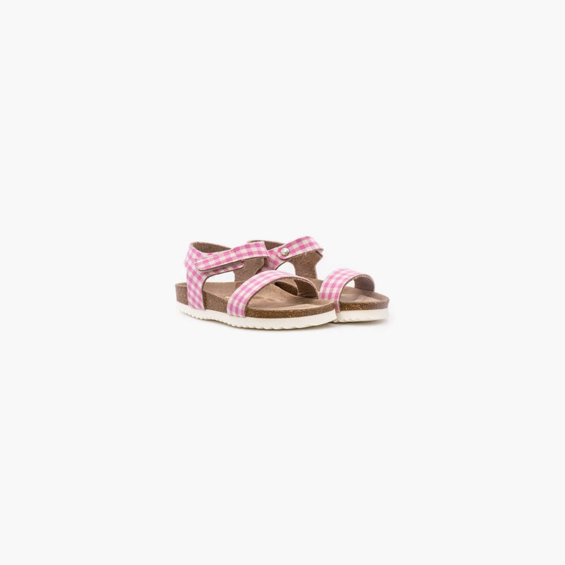 Vico Checkers Pink and White Sandals - MyJooti