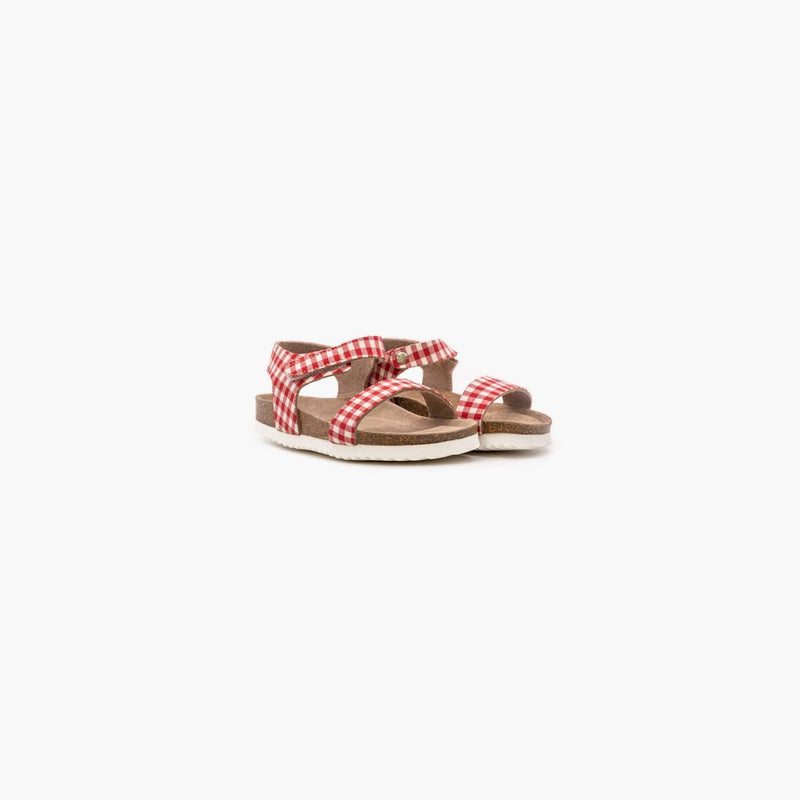 Vico Checkers Red and White Sandals - MyJooti