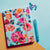 Blue Vintage Floral  NotebookWith Rubber Band A6 Size
