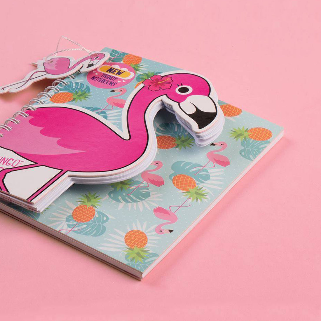 Trendy Wire Notebook Flamingo