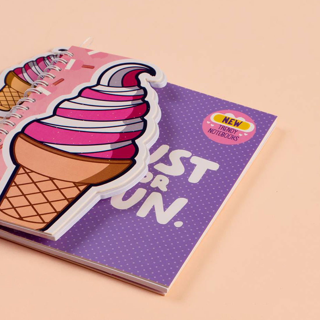 Trendy Wire Notebook Ice Cream