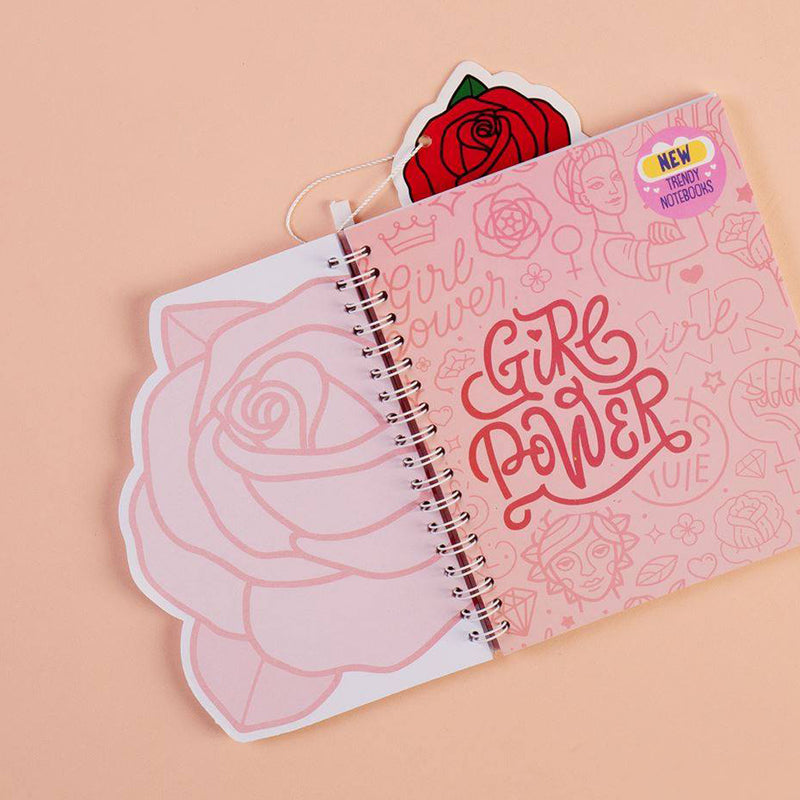 Trendy Wire Notebook Rose
