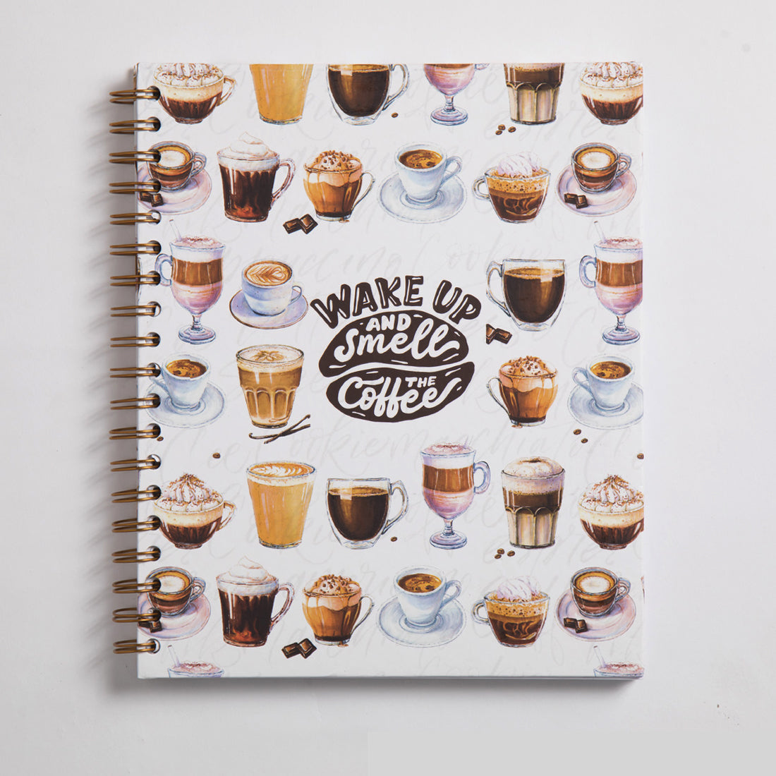 Coffee Notebook Wire A5 Size