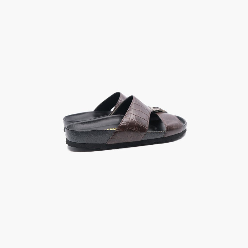 Duche Brown Leather Sandals - MyJooti