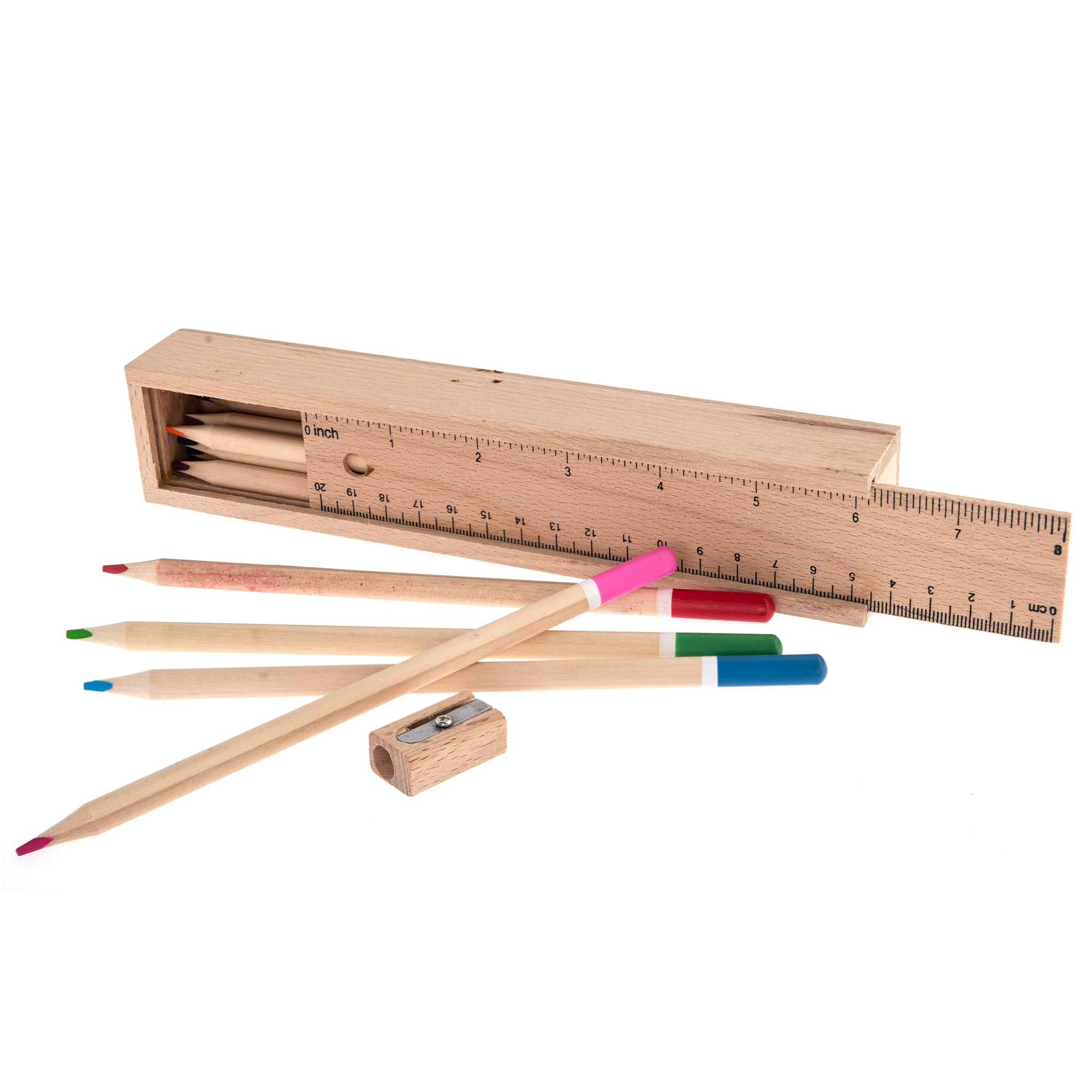 Wood Pencils Case with Pencils