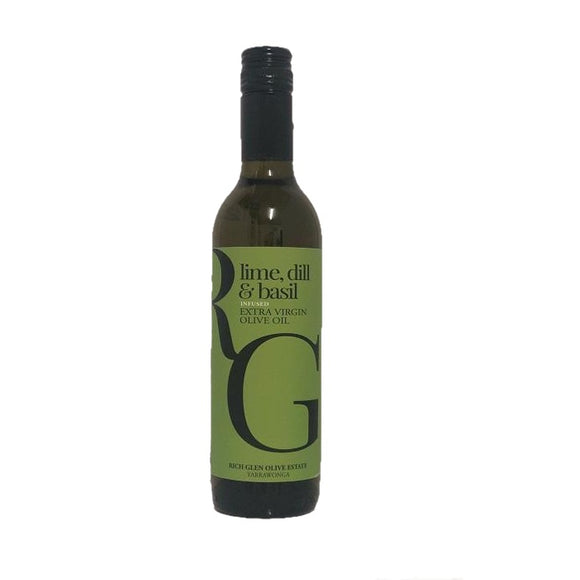 Lime, Dill & Basil Infused Olive Oil - 375ml - babesfarmfreshproduce