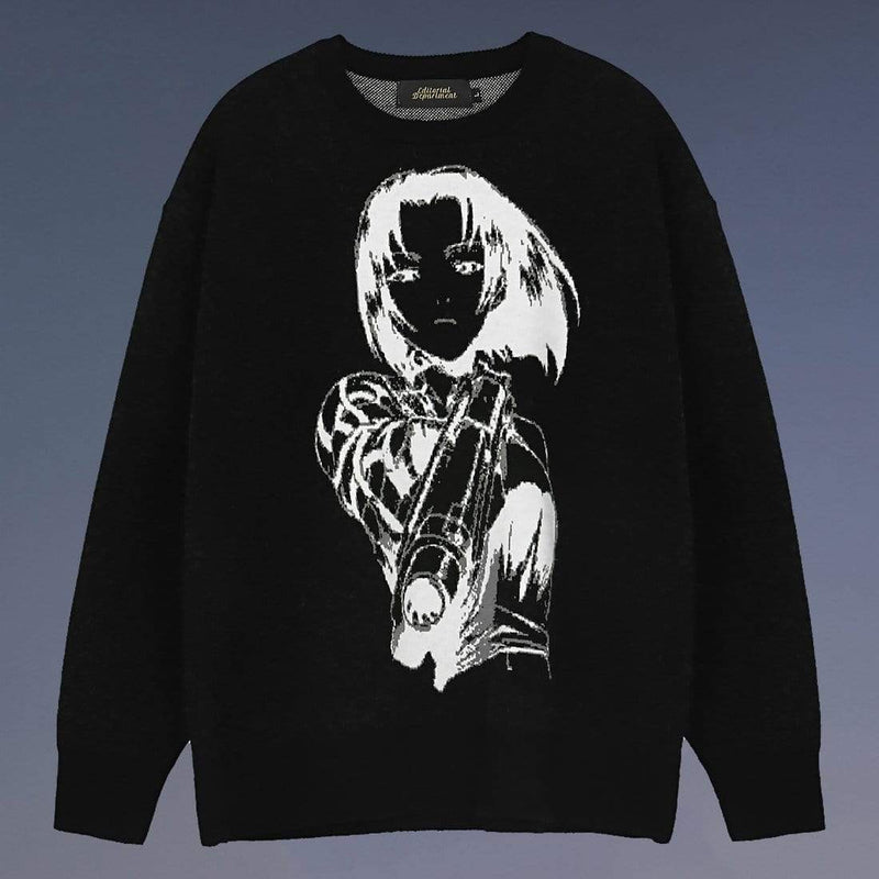"""Girl with Gun"" Sweater - Maener"