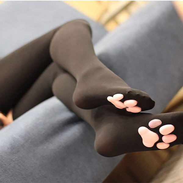 """Cat Meat Pad"" 3D Silicone Long Stockings - Maener"