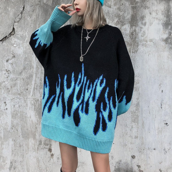 "Maener ""Blue flame"" Sweater - Maener"