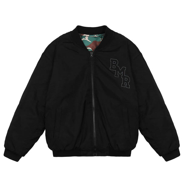 """Awesome"" Double-sided Varsity Jacket - Maener"