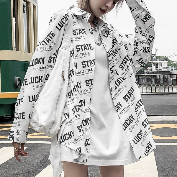 """Lucky State"" Long-Sleeve Shirts - Maener"