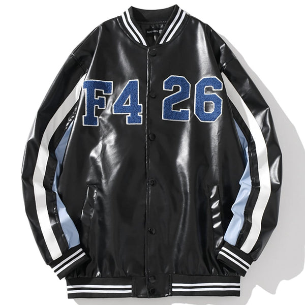 """Leather"" Varsity Jacket - Maener"