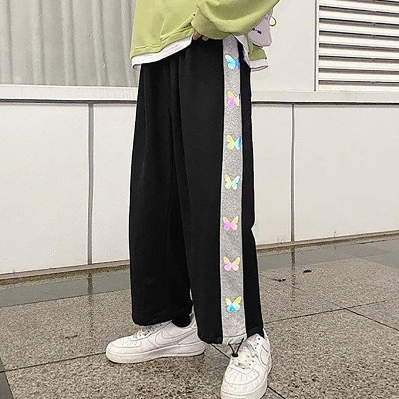 """Side Bright Butterfly"" Jogger - Maener"