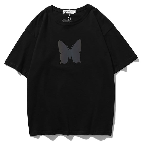 """Alone Reflective Butterfly"" T-shirt - Maener"