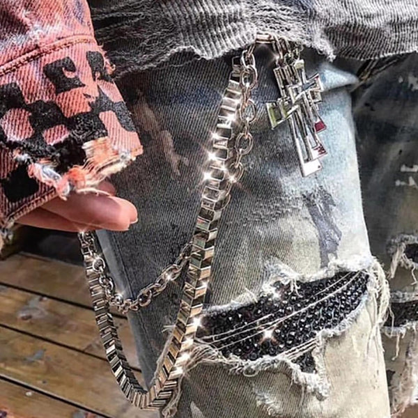 """Cross"" Waist Chain - Maener"