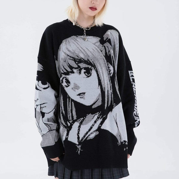 """Girl Smile"" Deathnote Misa Sweater - Maener"