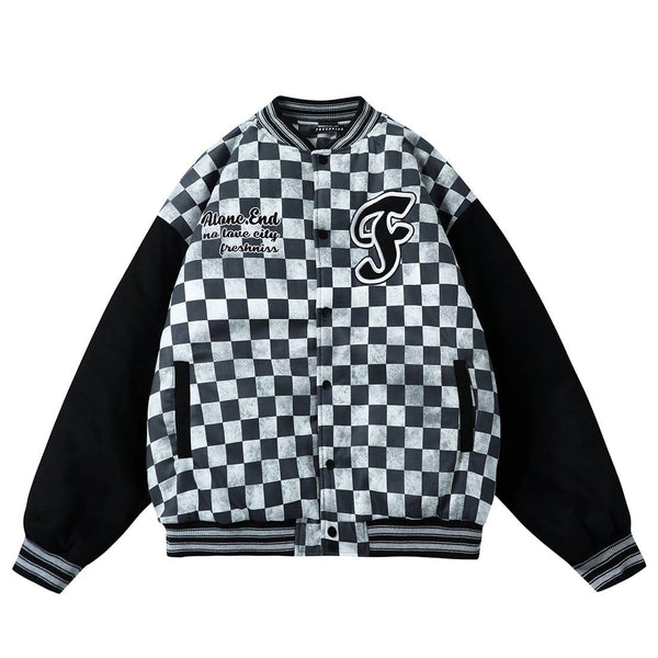"""Magic Square"" Varsity Jacket - Maener"