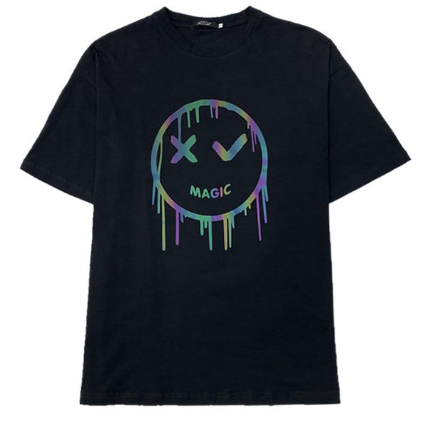 """Reflective Smiley"" T-shirt - Maener"