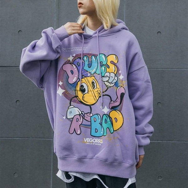 """Pouting"" Drugs R Bad Sweatshirt Hoodie - Maener"