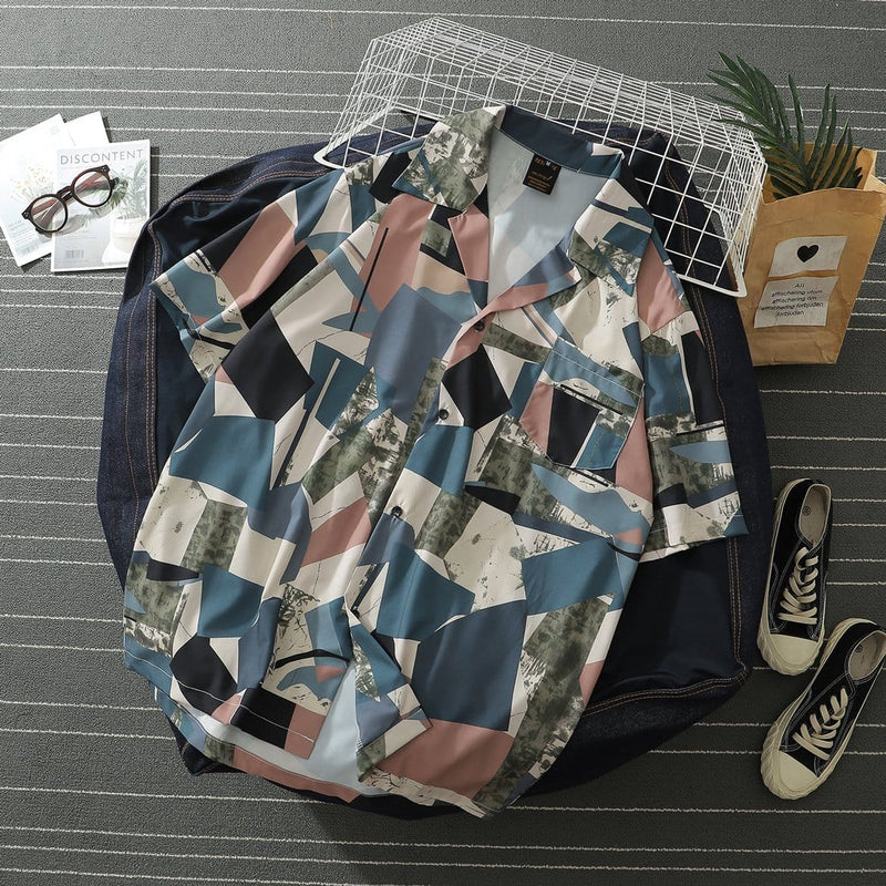 """Geometric reconstruction"" Shirt - Maener"