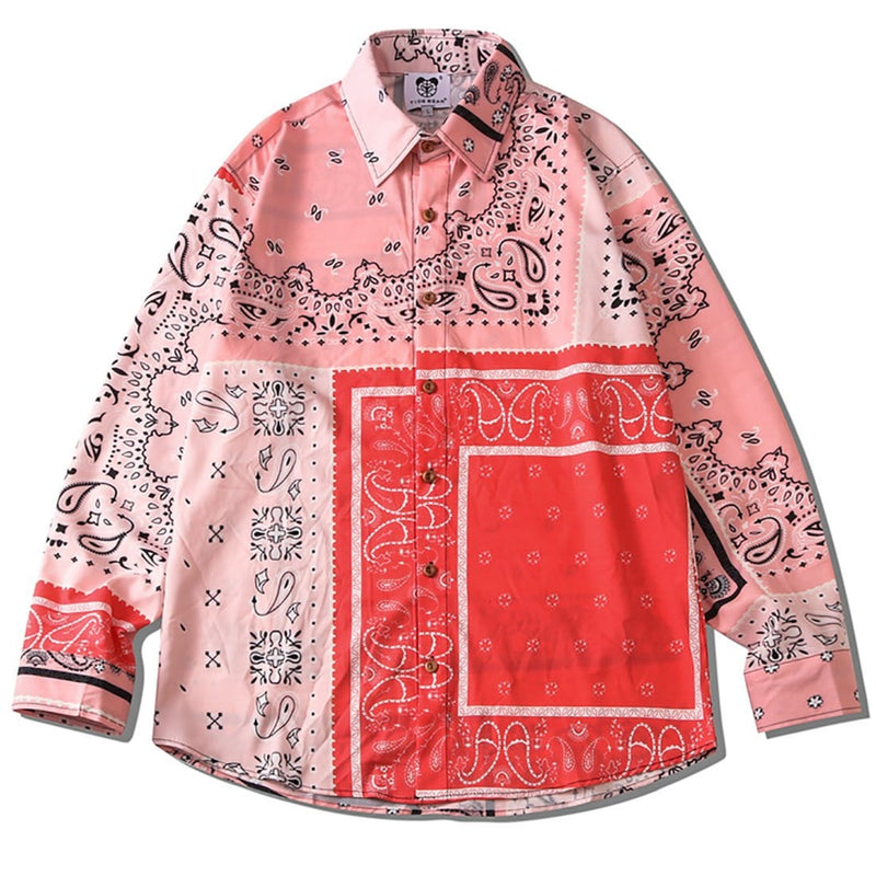 """Square Scarf"" Long-Sleeve Shirts - Maener"