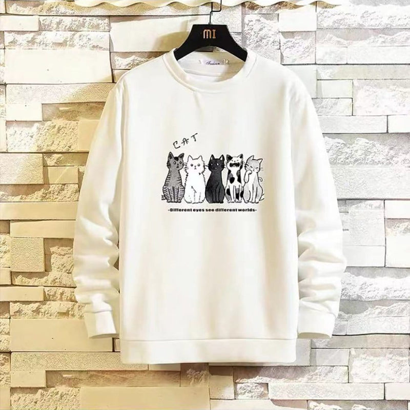 """Line Up Neatly"" Cat Sweatshirt - Maener"