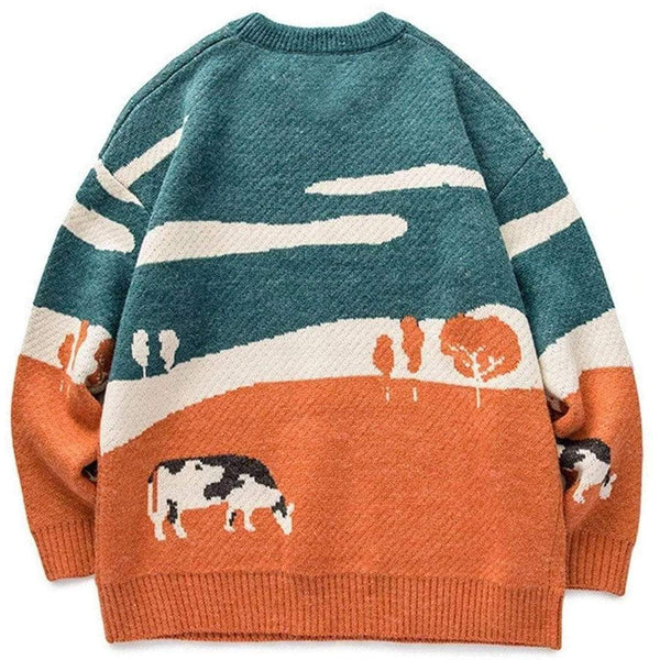 """Retro Cow"" Sweater - Maener"