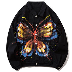 """Vintage Butterfly"" Denim Jacket - Maener"