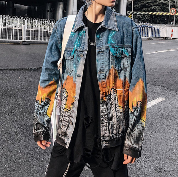 """Ghidora"" Let's Rock Series Denim Jacket - Maener"