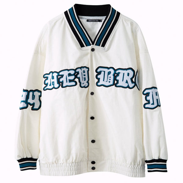 """Renouation"" Varsity Jacket - Maener"