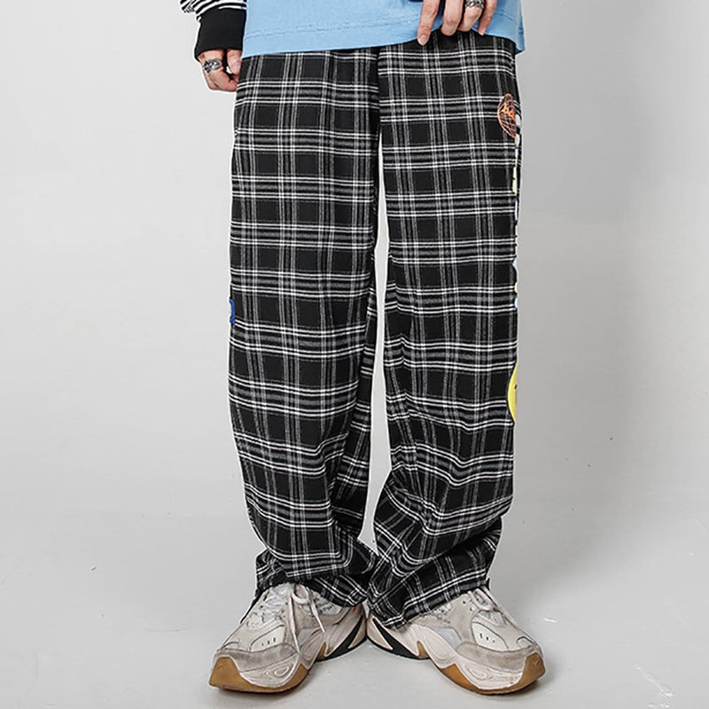 """Grid Smiley"" Joggers - Maener"