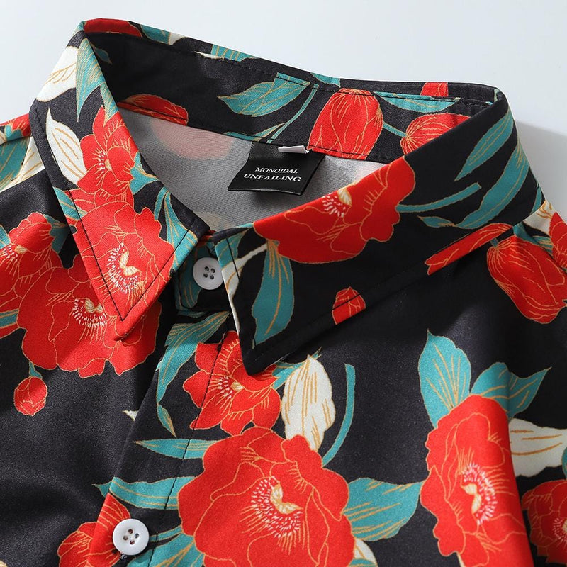 """Red Rose"" Long-Sleeve Shirts - Maener"