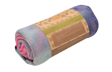 Sandwashed Tie-Dye Hand Yoga Towel - Non Skid - Fit For Trips