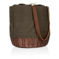 Coronado Canvas and Willow Basket Tote