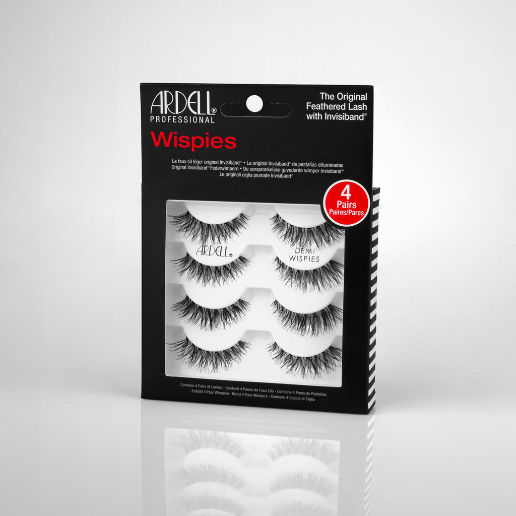 ARDELL 4 PACK DEMI WISPIES BLACK