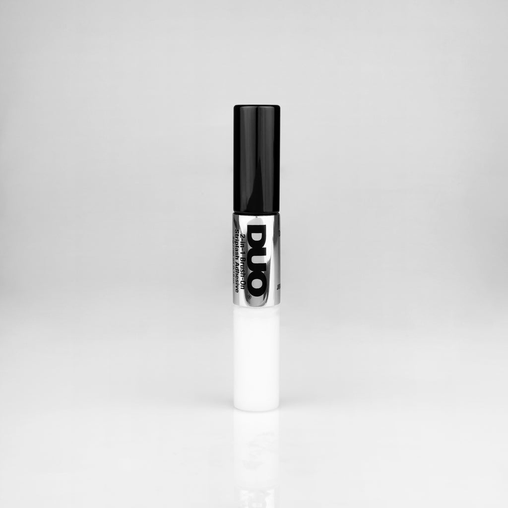 Duo 2-in-1 Brush On Adhesive clear & dark
