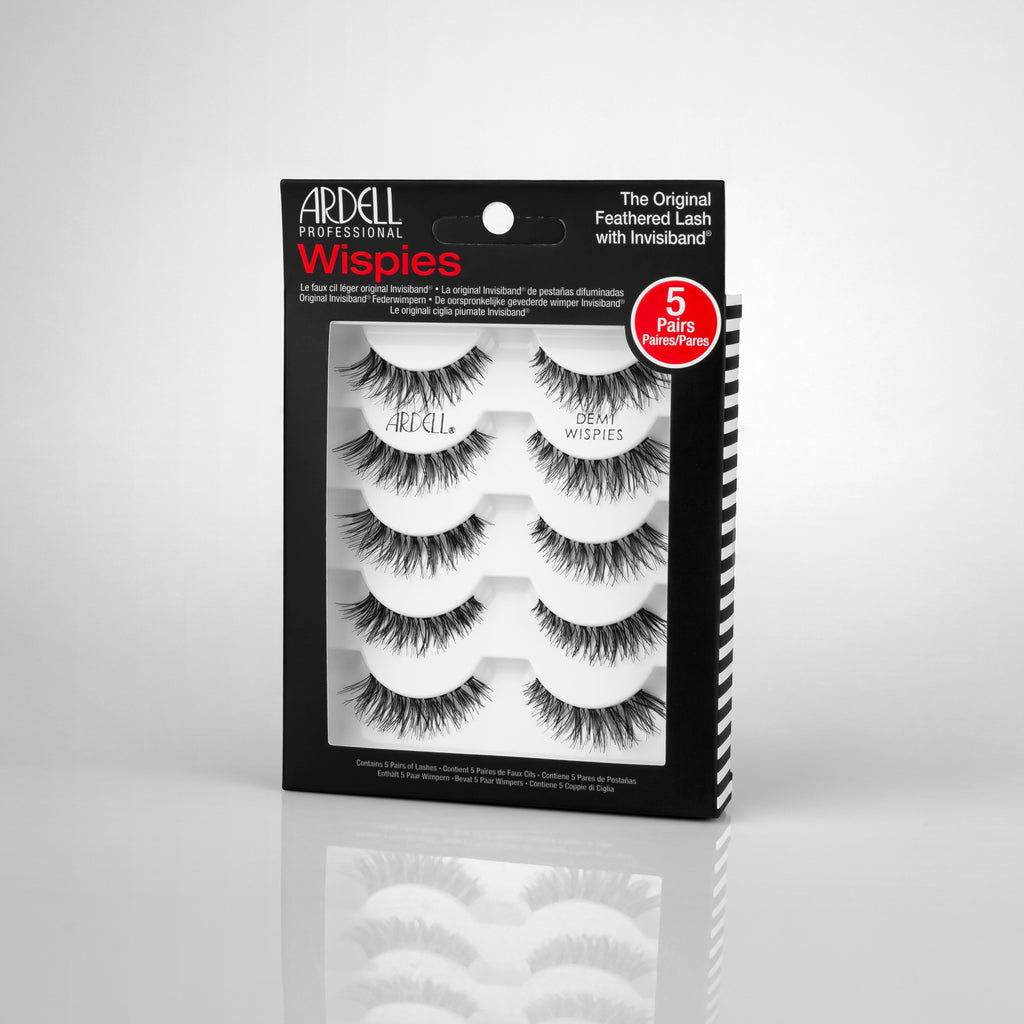 ARDELL 5 PACK DEMI WISPIES BLACK