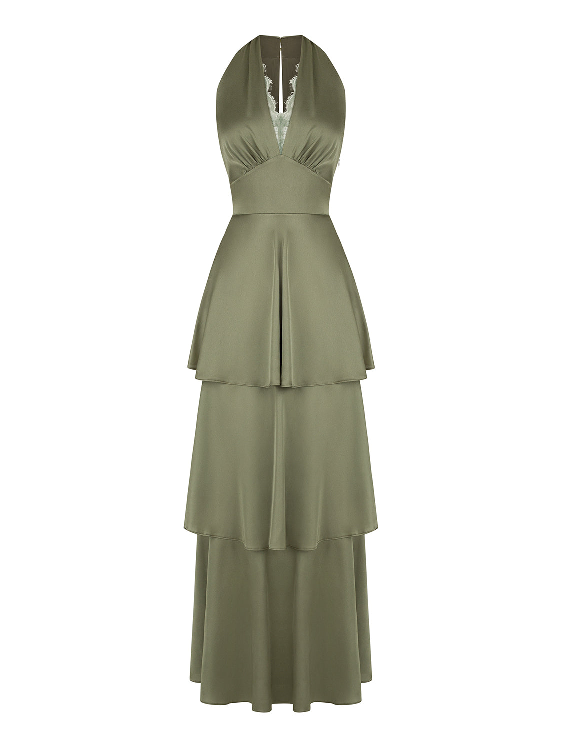 Satin Effect Pleated Dress