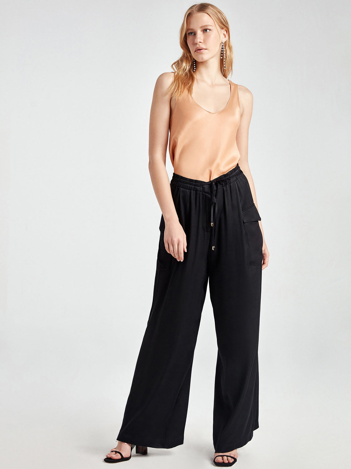 Satin Effect Pants