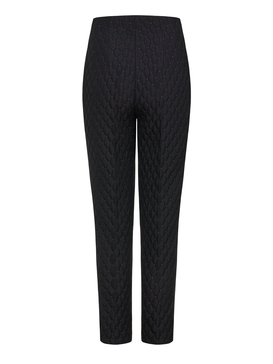 Jacquard Pants with Ribbed Detail