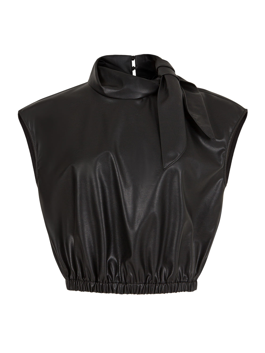 Tied Pleather Top